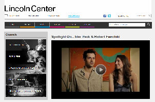Lincoln Center Video Portal
